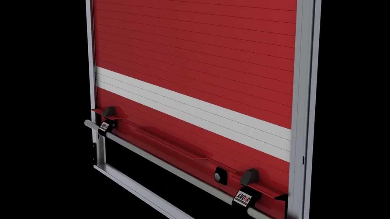 Amdor Roll Up Door W Magnetic Door Ajar Switch Amp Luma Bar