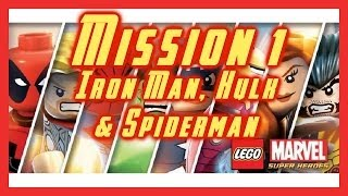 LEGO MARVEL SUPER HEROES | MISSION 1 | IRON MAN, HULK & SPIDERMAN | WALKTHROUGH | HD