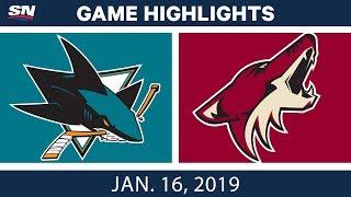 NHL Highlights   Coyotes vs. Sharks - Jan. 16, 2019