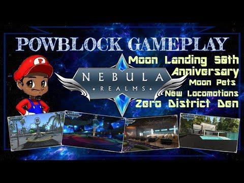 Patch 1.83 Update! Moon Landing 50th Anniversary, Zero District Den Space Tour! - Nebula Realms LIVE