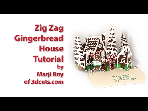 Zig Zag Gingerbread House Tutorial
