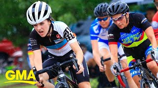 Teen with illness competes in cycling championship