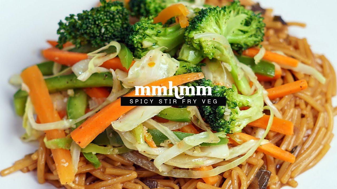 Stir Fry Spicy Veg With Knorr Teriyaki Noodles Youtube