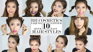 10 Looks in Less Than 5 Minutes + BH Liquid Lipstick Review