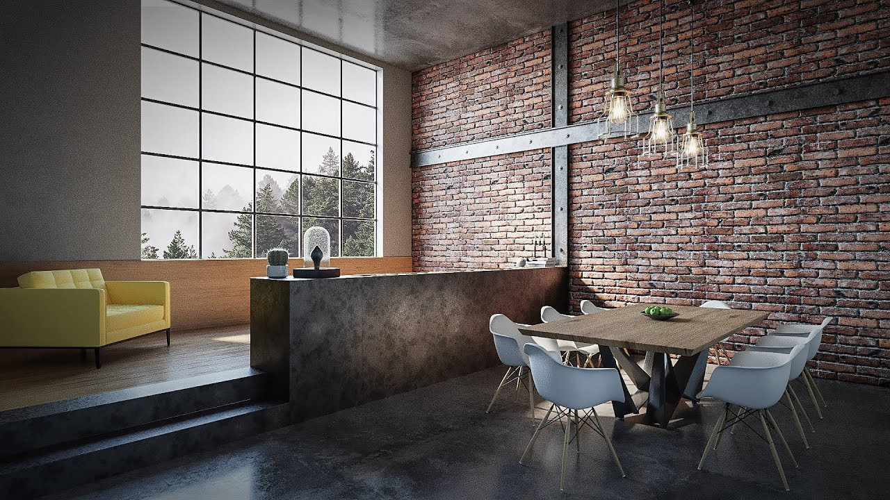 Loft Interior Room Tutorial Best 3dsmax Render Youtube