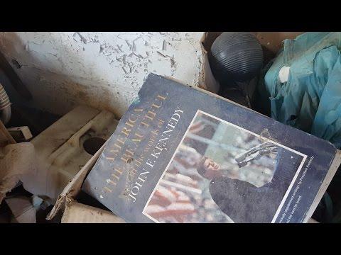 Abandoned Farm House - Tree destroys home (JFK Book, Shotgun Shell, Jewelry Box)