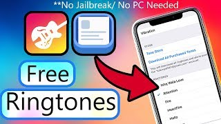 This video will show you how to set any song as a ringtone on iphone for free without the need of jailbreak & computer or laptop. what learn? ca...
