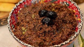 Greek Olive Dip: Pasta Elias