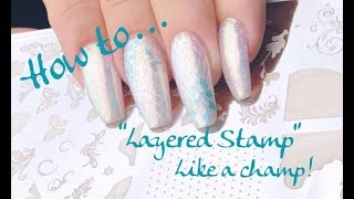 How to Layered Stamp with Clear Jelly Stamper