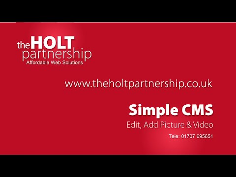 Simple CMS | Update Your Website | Edit My Website Software