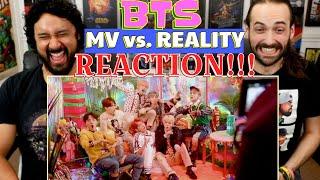 BTS | MV vs REALITY - REACTION!!!
