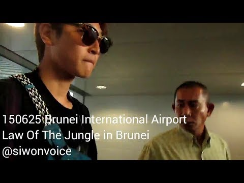 [FANCAM] 150625 SBS Law Of The Jungle at Brunei International Airport (departures)