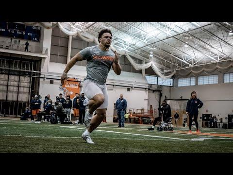 Illinois Football Pro Day 2018