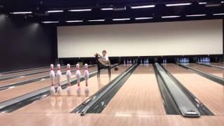Unbelievable bowling trickshot by Mika Koivuniemi, BowlCircus Sello