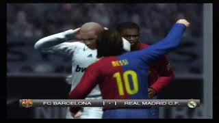 PES 2009 Barcelona vs Real Madrid