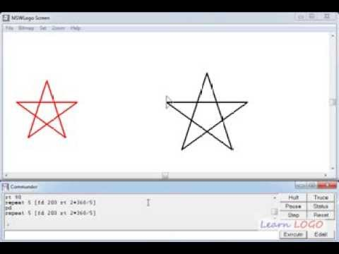 Hard problems in Logo - Drawing a star in one command using Logo