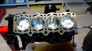 3sgte GEN III MR2 Turbo Zylinderblock Einbau Der Kolben