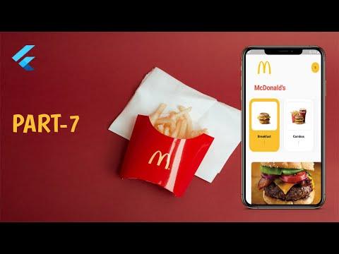 Flutter McDonald's Concept App UI Part 7