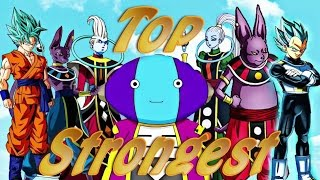 Top Strongest Dragon Ball Super Characters (As 11-28-16!) Explained