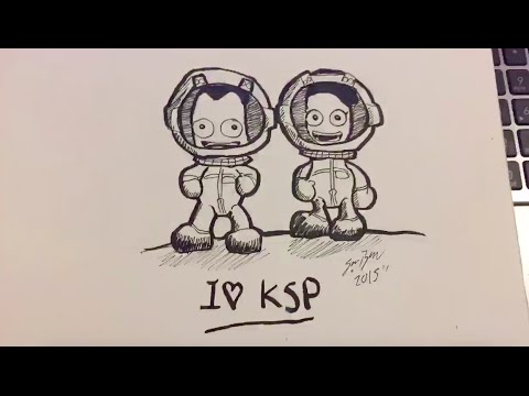 Jeb & Valentina Kerman (KSP) Speed Drawing