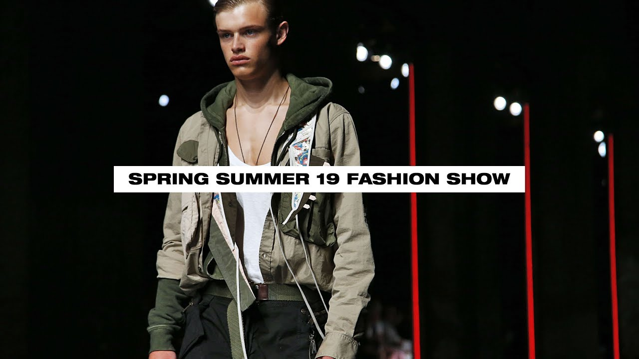 00ca62f89aff DSQUARED2 SPRING SUMMER 2019 MEN'S AND WOMEN'S FASHION SHOW - YouTube