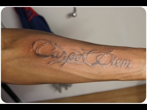 White on Black Tattoo (Carpe Diem)