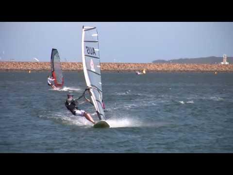 Windsurfing at Botany Bay in Sydney.