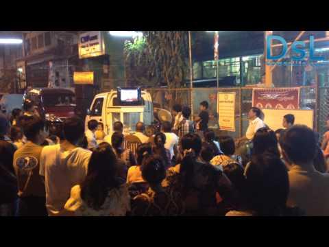 Karaoke in burma streets