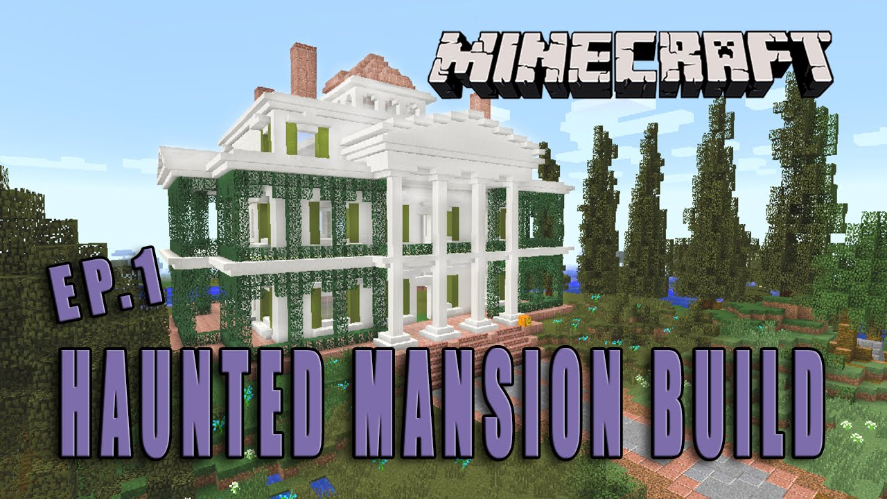 Minecraft how to make a haunted mansion halloween build for Classic house tutorial