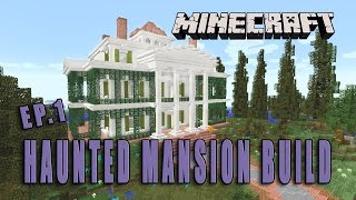 Minecraft: How To Make A Haunted Mansion  (Halloween Build Part 1)