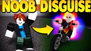 DISGUISING MYSELF AS A NOOB *TROLLING* IN SUPER POWER TRAINING SIMULATOR (ROBLOX)