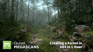 Create a Forest in UE4 in 1 Hour thumbnail