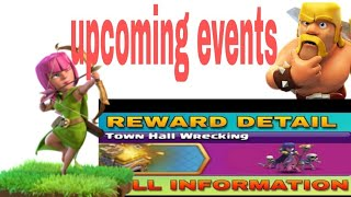 Wooooow........Upcoming events clash of clans... clash of clans ka new events