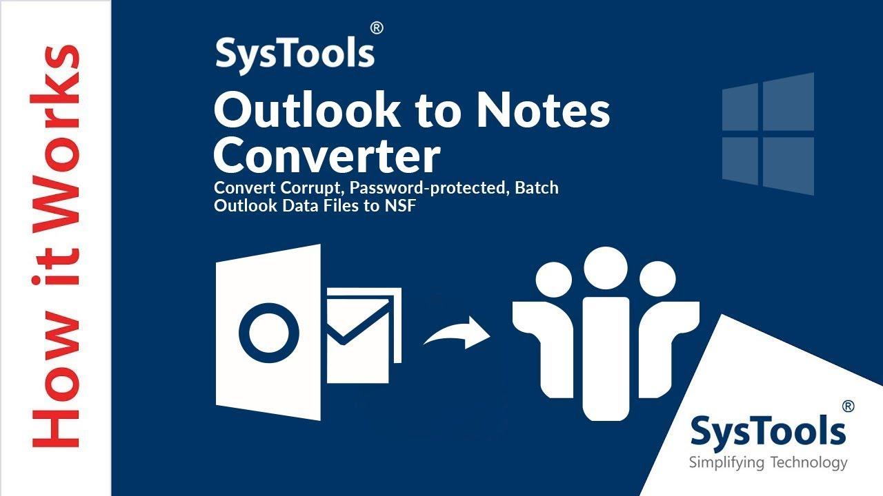 Pst To Nsf Converter Importieren Sie Outlook Pst Dateien