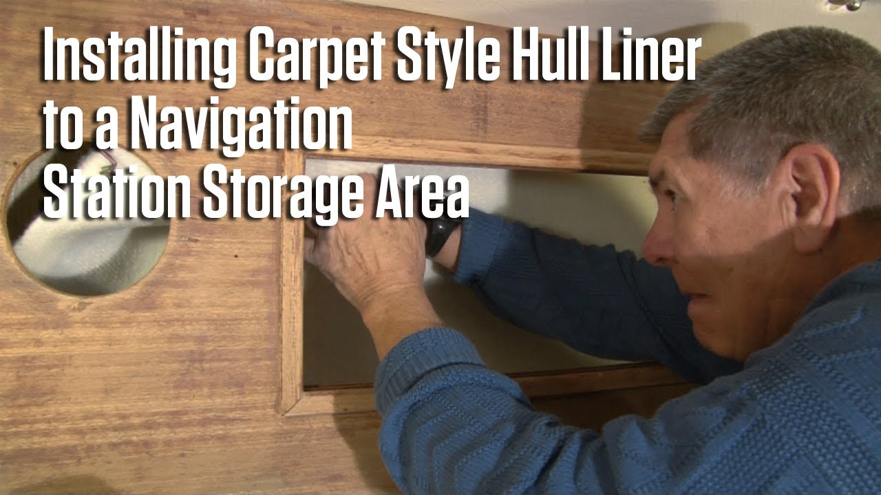Installing Carpet Style Hull Liner To A Navigation Station