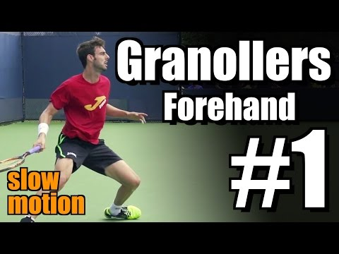 Marcel Granollers in Super Slow Motion | Forehand #1 | Western & Southern Open 2014
