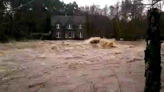 Flooding above Dinnet Bridge on December 30th 2015