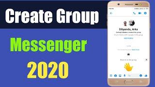 Create Group In Messenger 2020   Facebook Messenger New Update   Messenger New Design