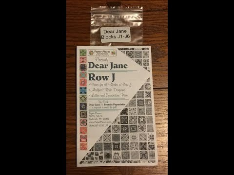 Bag Sort:  Blocks J1-J6 - Dear Jane Goes EPP