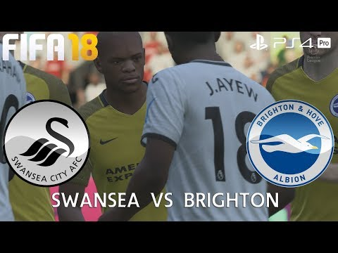 FIFA 18 (PS4 Pro) Swansea City v Brighton & Hove Albion PREMIER LEAGUE 4/11/2017 PREDICTION 1080P