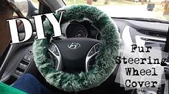 DIY Fur Steering Wheel Cover
