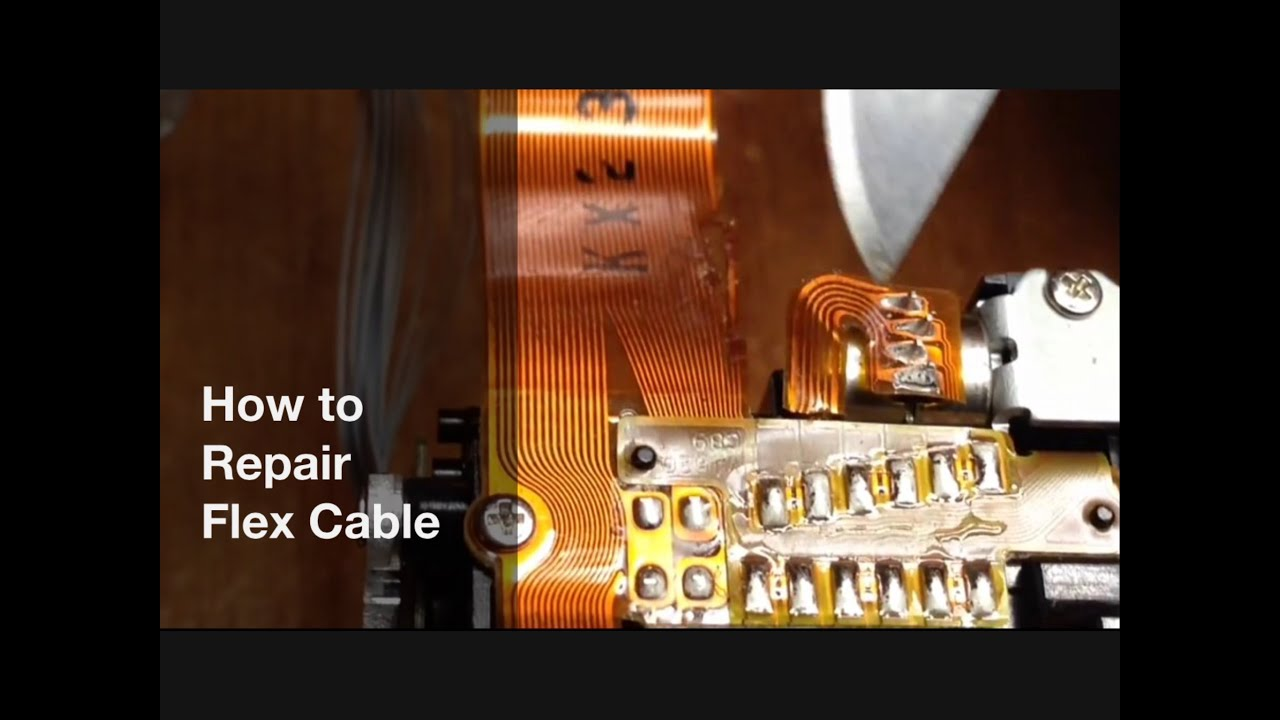 How To Repair Flex Cable Flexible Pcb Type Flat Copper Ribbon Images Of Multilayered Multilayer Circuit Board 43756827 Youtube Premium