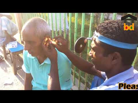 ►60 Years Grandpa at Street Ear Cleaning II Earwax Remove and Paid a Little Money