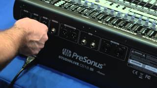 PreSonus StudioLive CS18AI: Networking with an AVB Switch