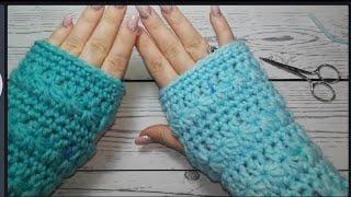 Starr stitch fingerless gloves
