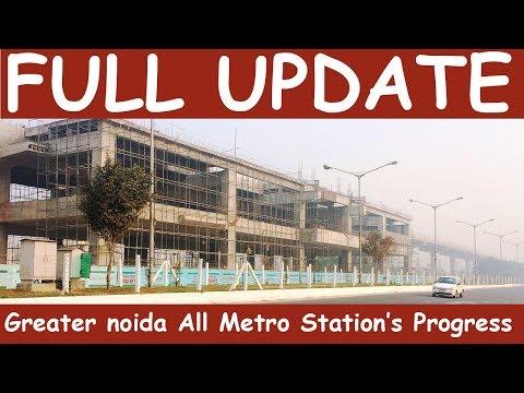 Noida To Greater Noida Metro (Metro Aqua Line) Full Construction Update Part 1