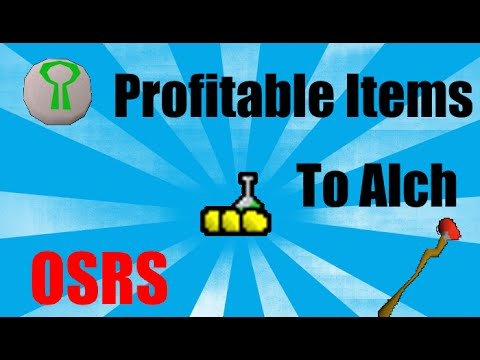 Best Profitable High Alchemy Items To Get 99 Magic Oldschool Runescape (OSRS)