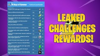 *NEW* LEAKED 14 DAYS OF SUMMER CHALLENGES & REWARDS! Fortnite Battle Royale!