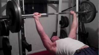 Bench Press, Bent Row, and Up Right Row Pyramids