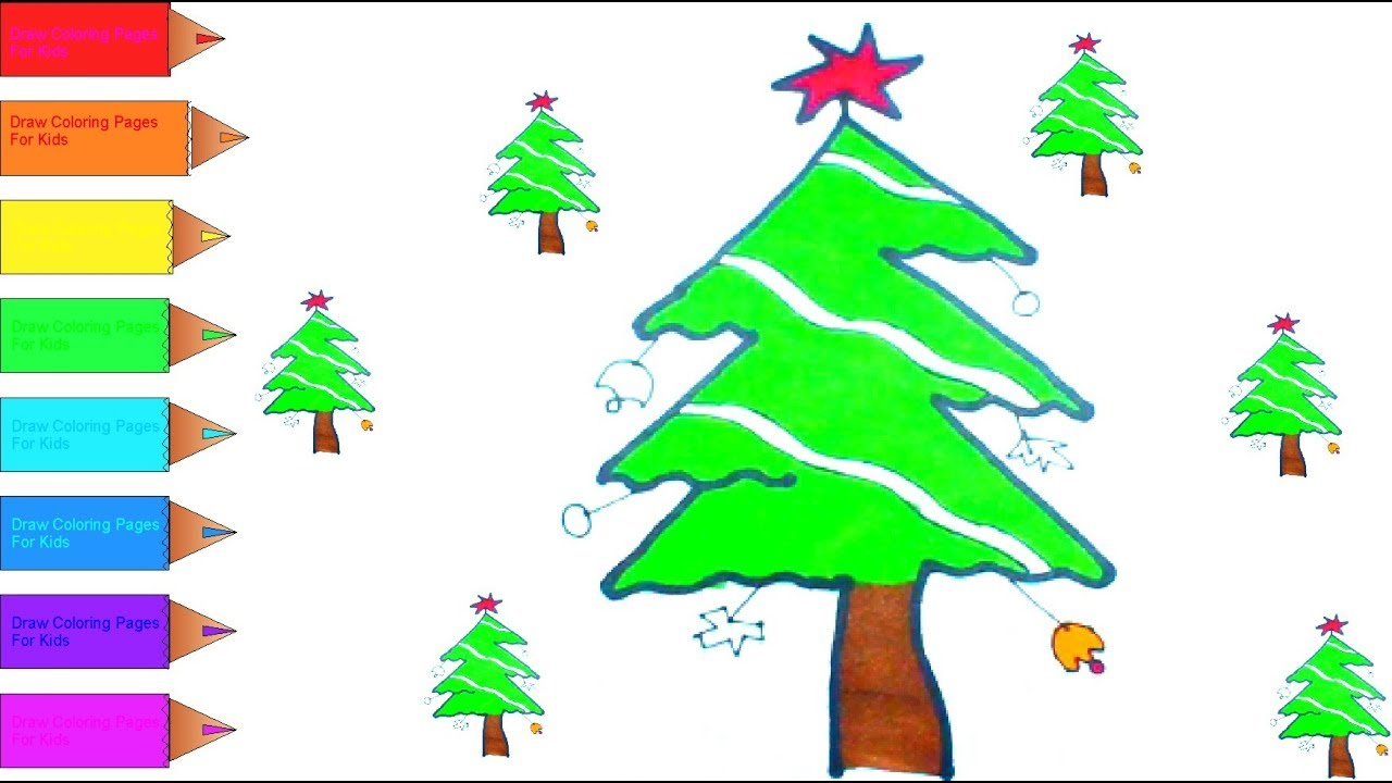 How to Draw a Christmas Tree and Star I Rooster I Candy and a Cow ...